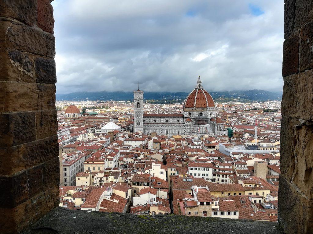Il Duomo di Firenze, visto dalla Torre di Arnolfo di Palazzo Vecchio