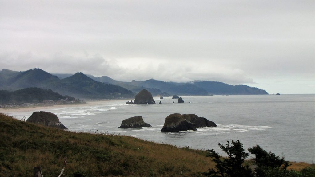 panorama dall ecola state park a cannon beeach, scena finale de i goonies