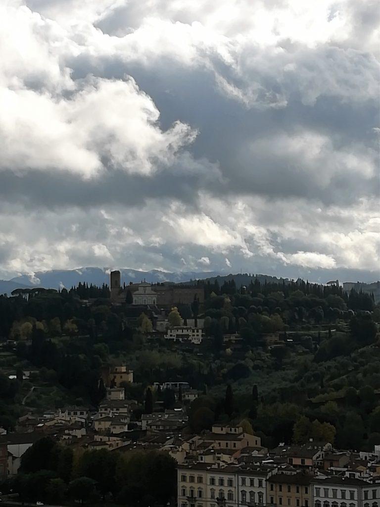 l'abbazia di san minato al monte, Firenze, vista da palazzo vecchio