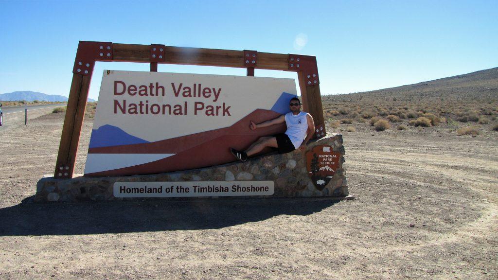 all'ingresso della death valley