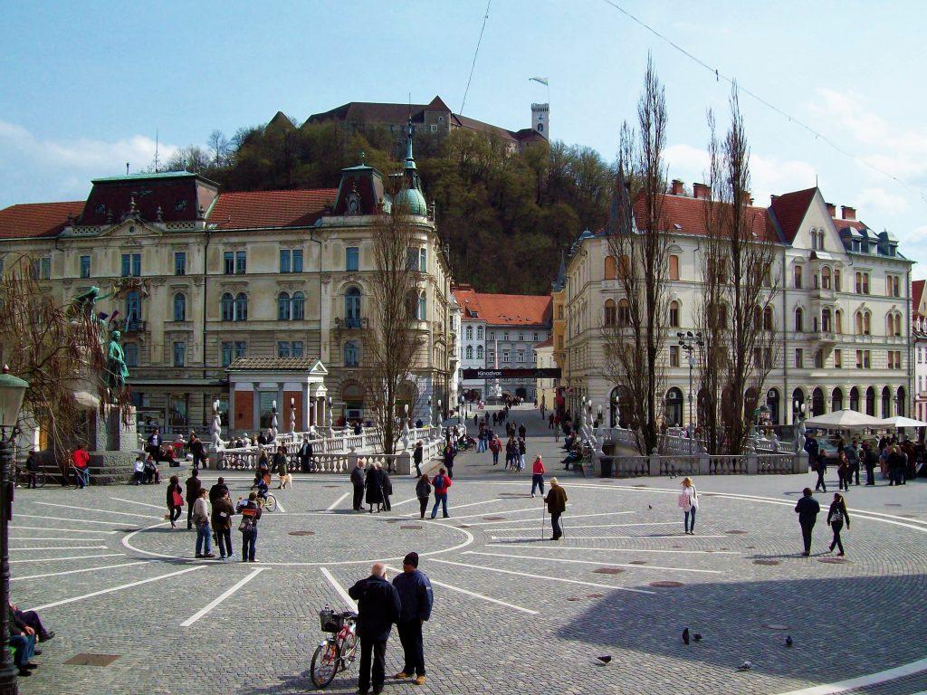 la piazza principale di lubiana