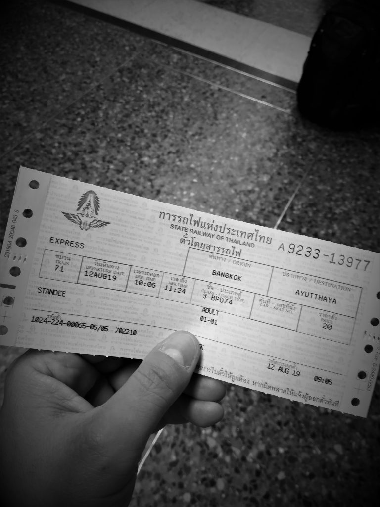 ayutthaya bangkok in terza classe