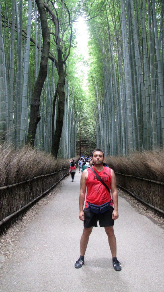 io tra i bamboo ad arashiyama