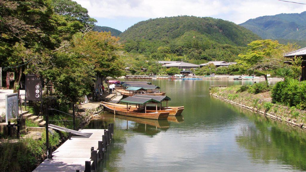 lungo fiume, arashiyama