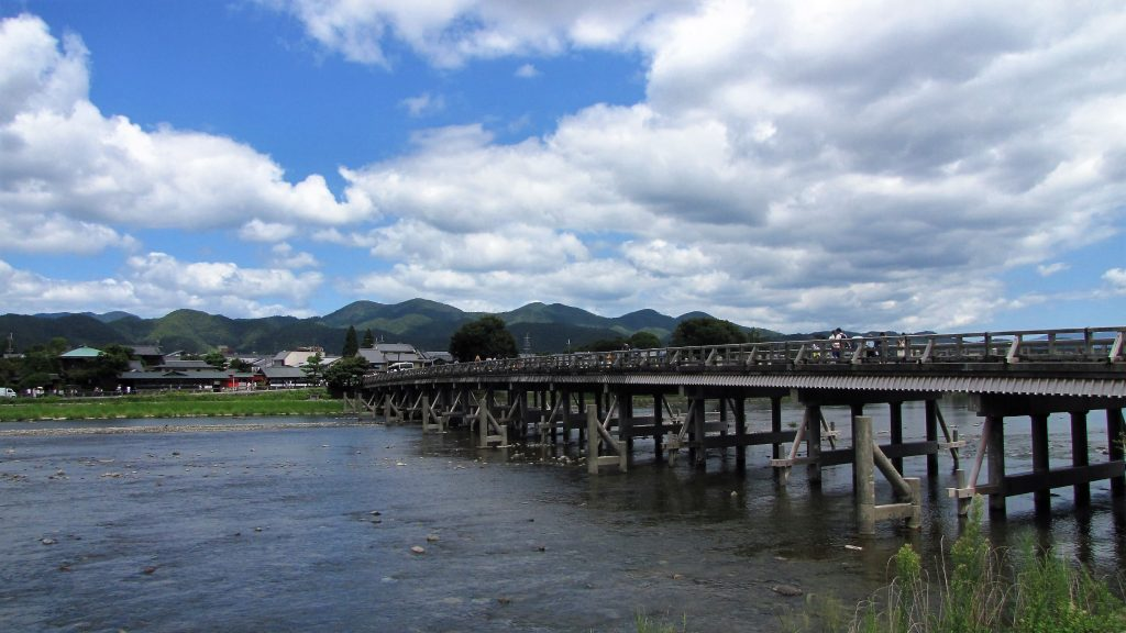 ponte della luna, arashiyama