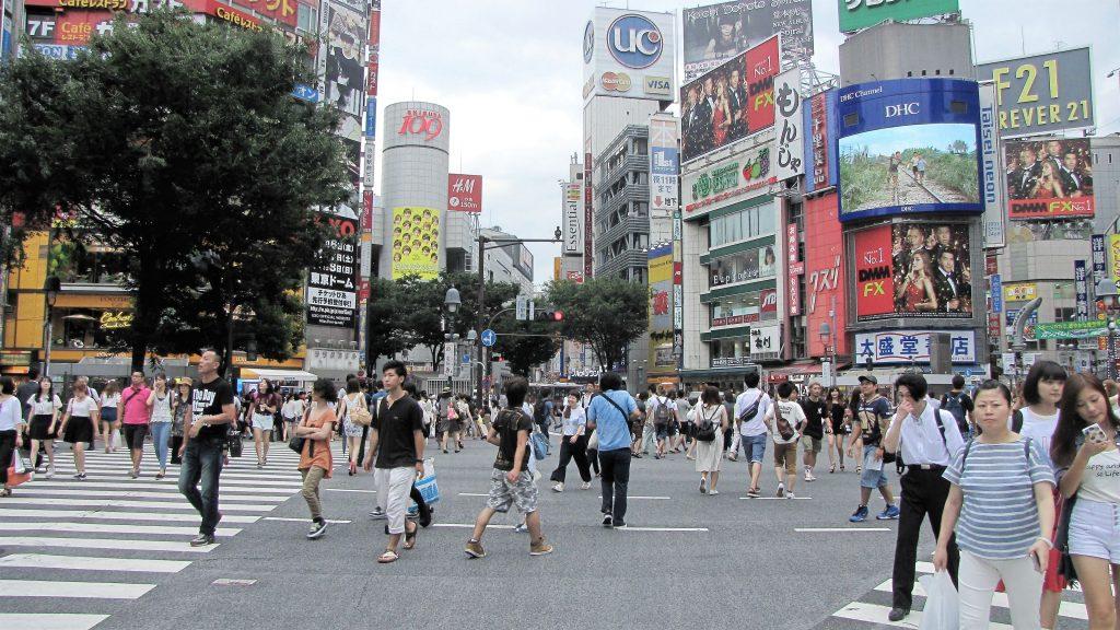 altra angolazione di shibuya crossing