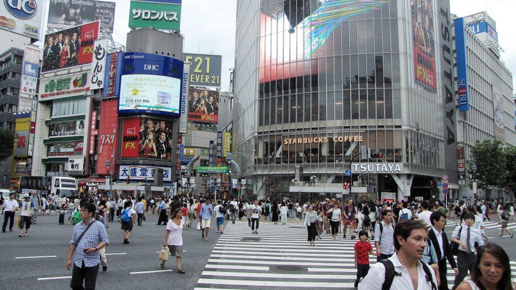 shibuya crossing on