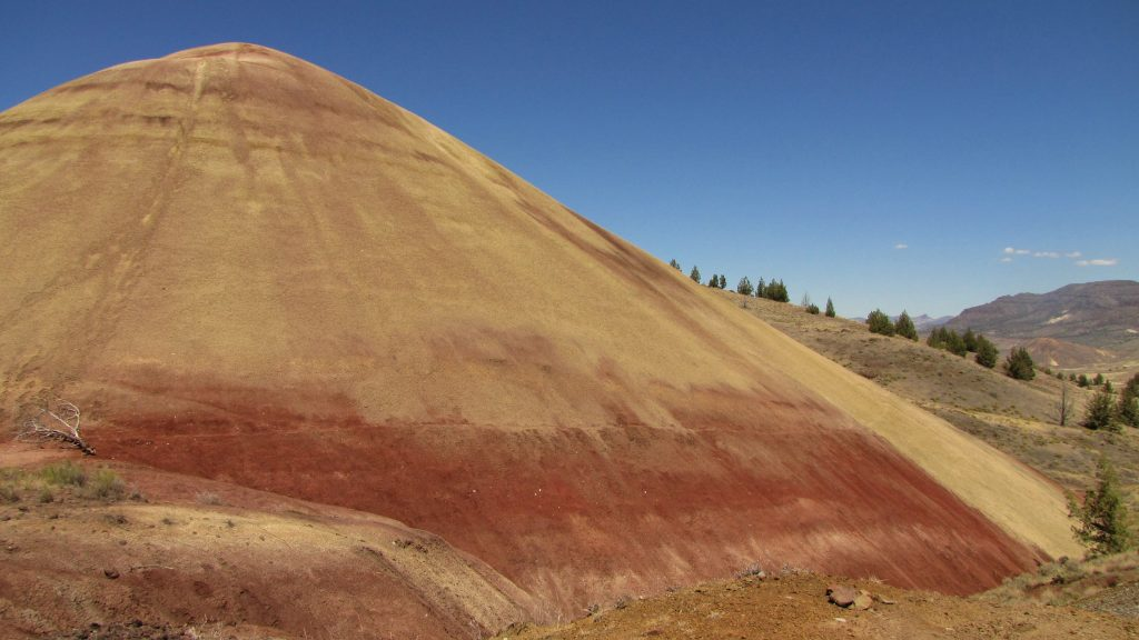 dirty road painted hills