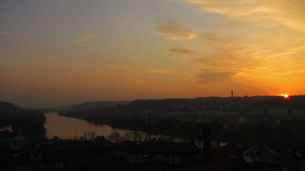tramonto praga