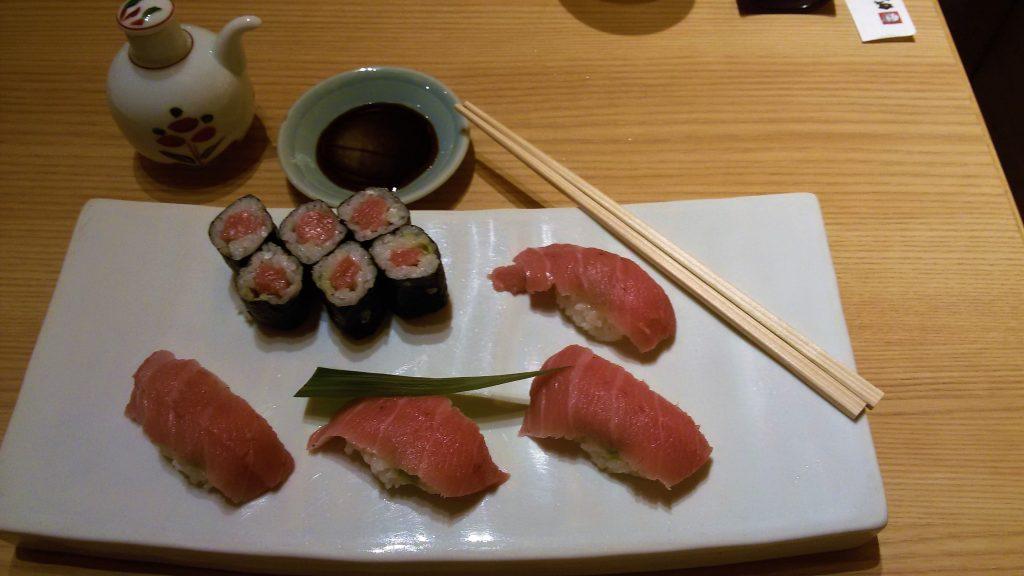 hoso maki e nigiri sushi