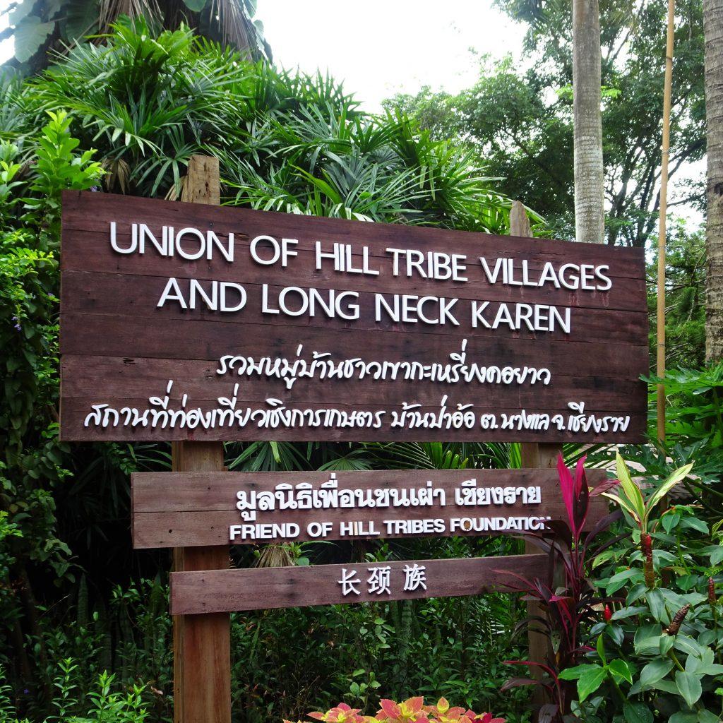 villaggio karen nei pressi di chiang rai